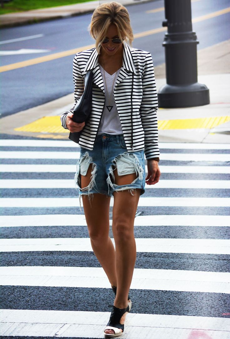 JACKET NORDSTROM (OLD)/SHIRT OLD NAVY/SHORTS TOPSHOP/HEELS C/O SOLE SOCIETY/BAG C/O  3.1 PHILIP LIM VIA LES NOUVELLES