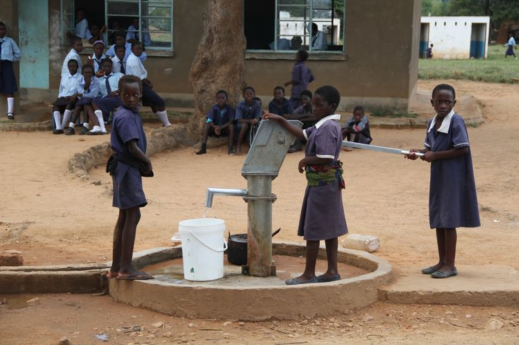 Zambian school borehole