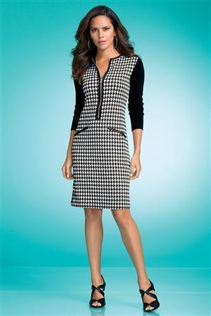 Houndstooth-Knit-Dress