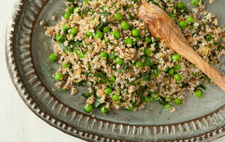 Bulgur with Peas and Mint - Wouldn't think of putting these ingredients together, but I'll give it a whirl.