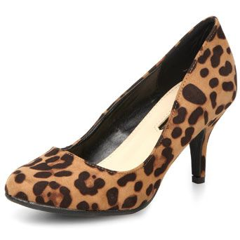 Leopard mid round toe - Dorothy Perkins $35