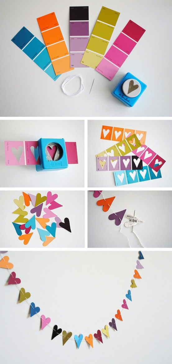 Our Reflection: Valentine's Day DIY Link Up Party! - Love this in the wedding colors for the timeline!