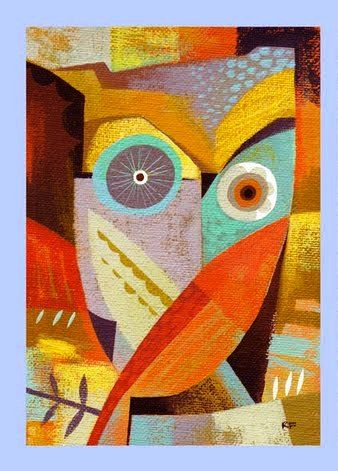 """owl from """"the Owl Series' by Richard Faust"""