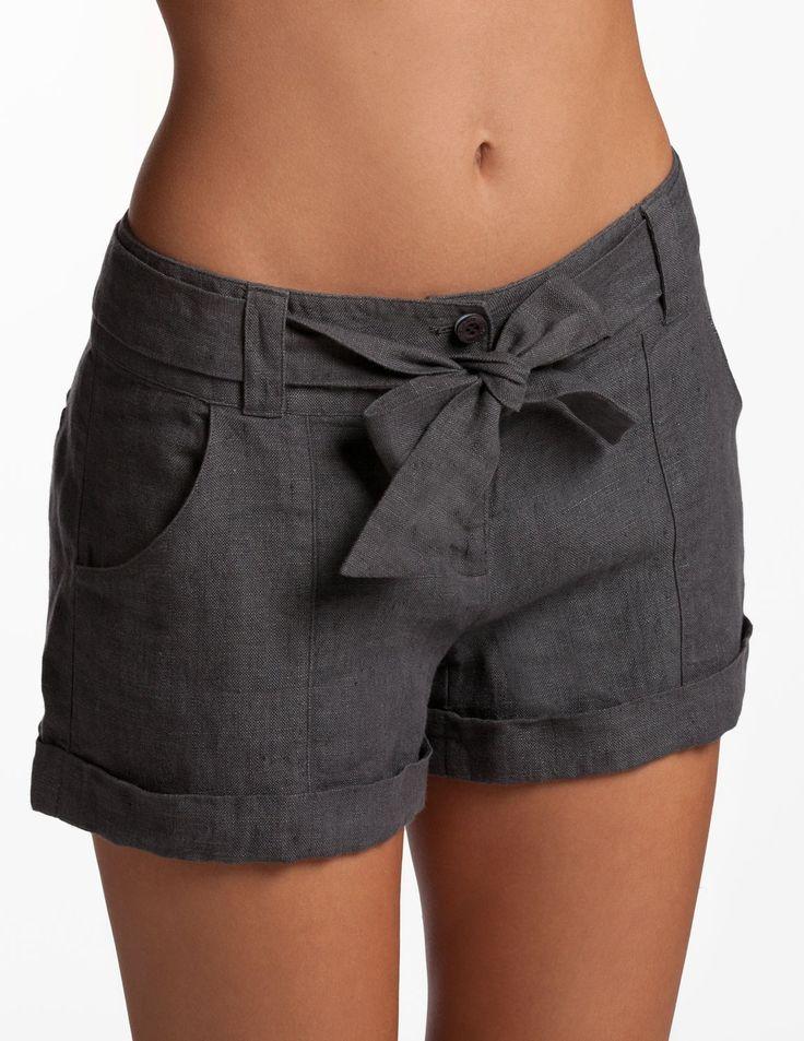Gunpowder Whitsunday Shorts - Linen Shorts for Women   Island Company
