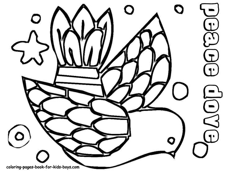 peace dove christmas coloring pages 2 pinterest