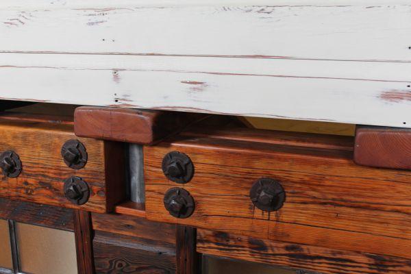 Industrial Bolts Wooden Beams Kitchen Pinterest