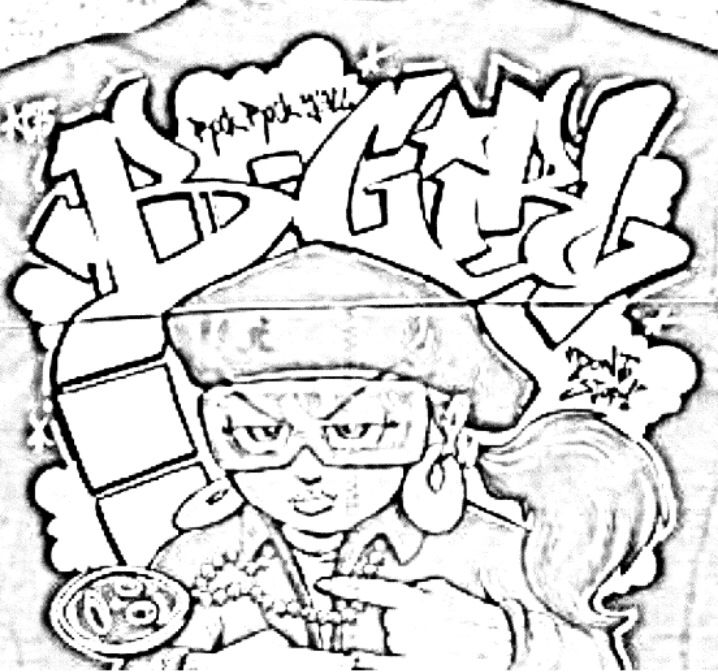 bgirl  hip hop coloring book compiledjamee schleifer