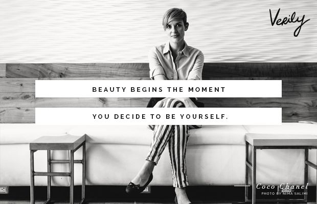 """Beauty begins the moment you decide to be yourself."" -Coco Chanel #dailydose"
