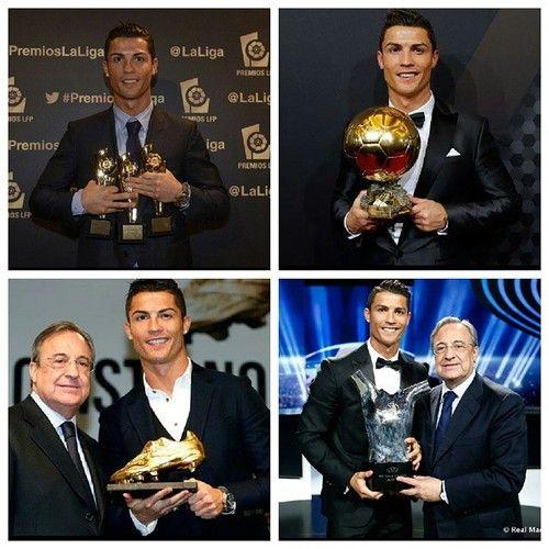 Sencillamente el mejor del mundo, el mejor del año. Cristiano Ronaldo premiado hoy con la bota de oro como máximo goleador de Europa.