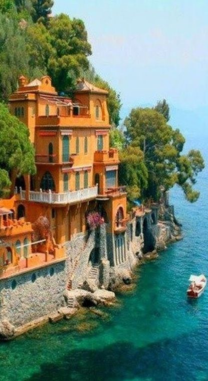 Ville vicino a Portofino, Italia