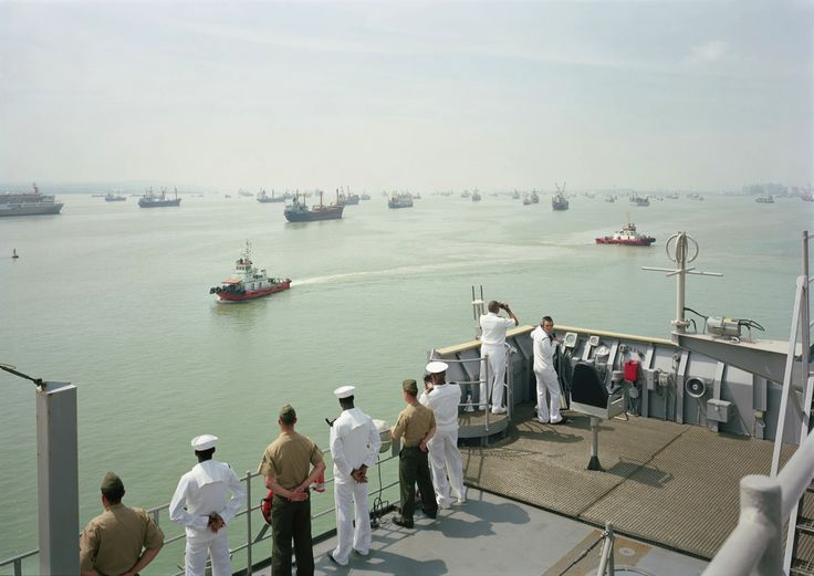 An-My Lê: Manning the Rail, USS Tortuga, Java Sea, 2010. From the Events Ashore Series. Image courtesy of the artist and Murray Guy, New York