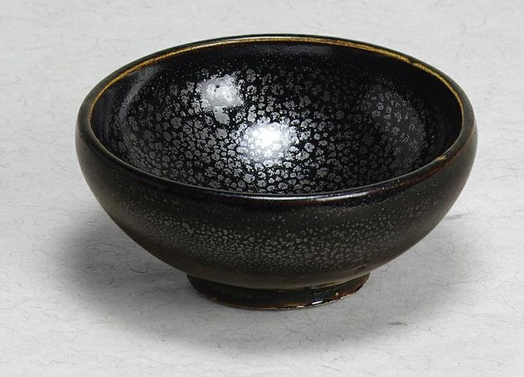 A fine and small black glazed bubble bowl with oil-spot Northern Song Dynasty