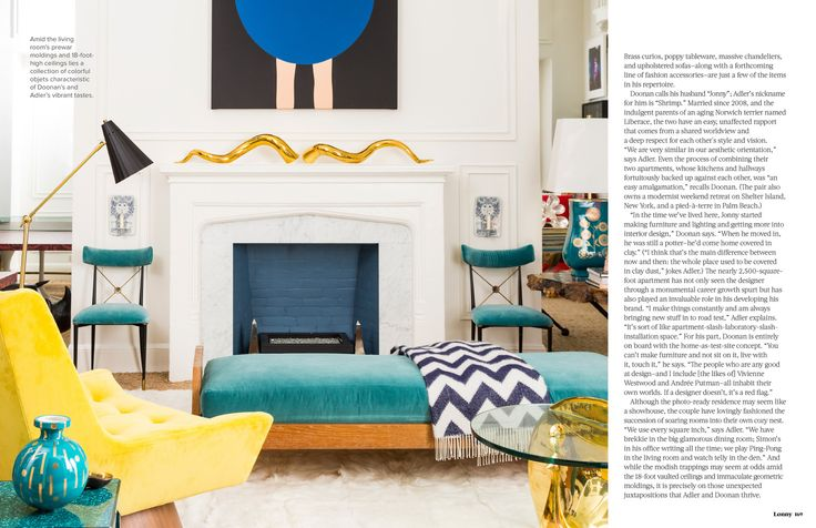 Love the white walls, floorplan, and painted inside of fireplace.  September 2013 - Lonny Magazine - Lonny