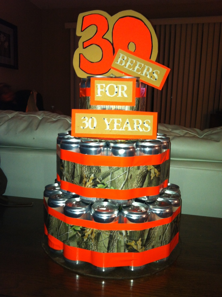 30th birthday beer can cake for him party ideas pinterest