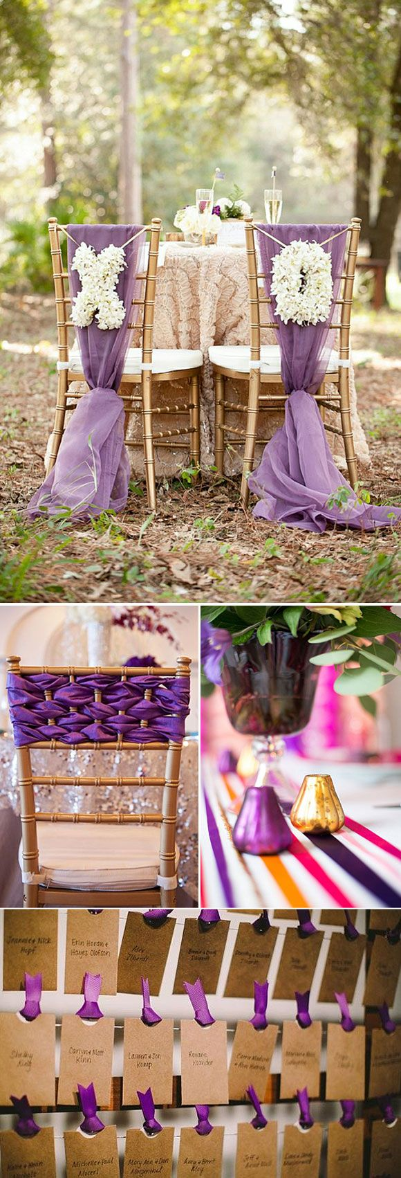 Radiant Orchid – Decoracion para bodas en color violeta