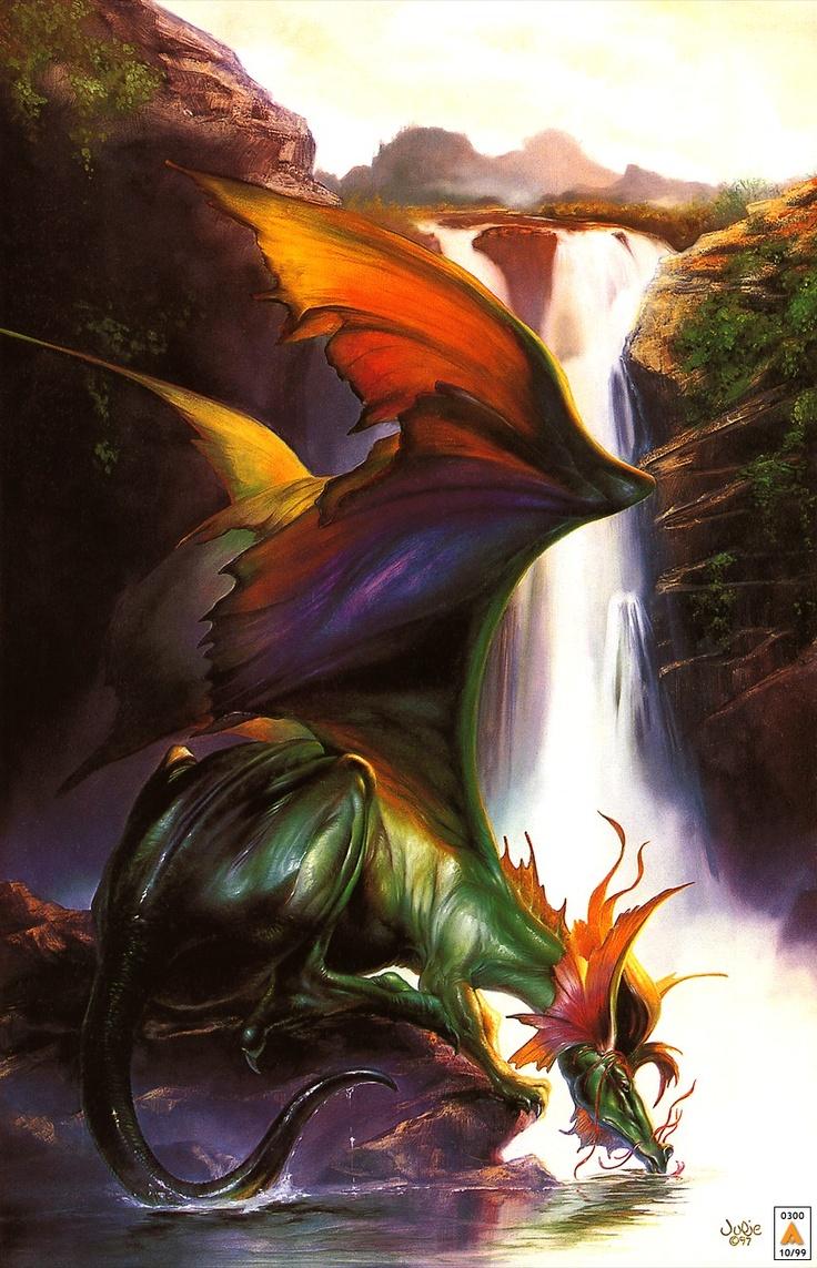 Colourful dragon taking a deserved break