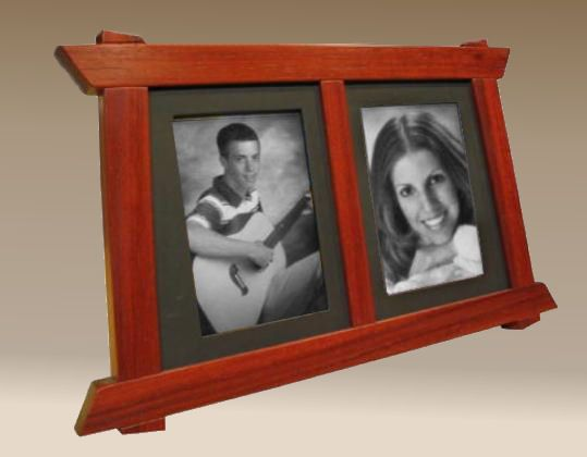 wood picture frame | Australian Jarrah Double Picture frame