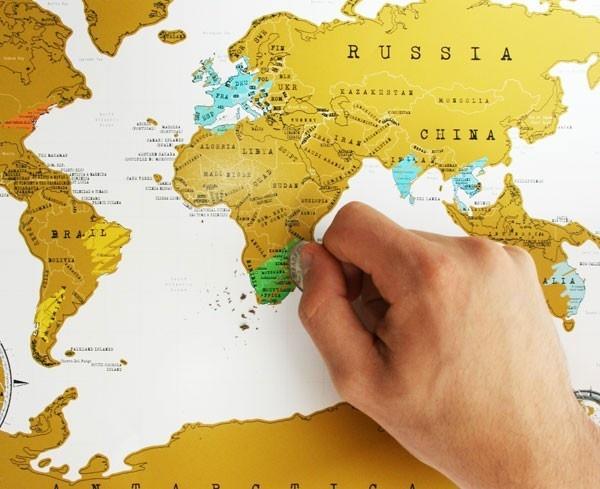 World Scratch Map - Travel Edition  $25  larkmade.com.au
