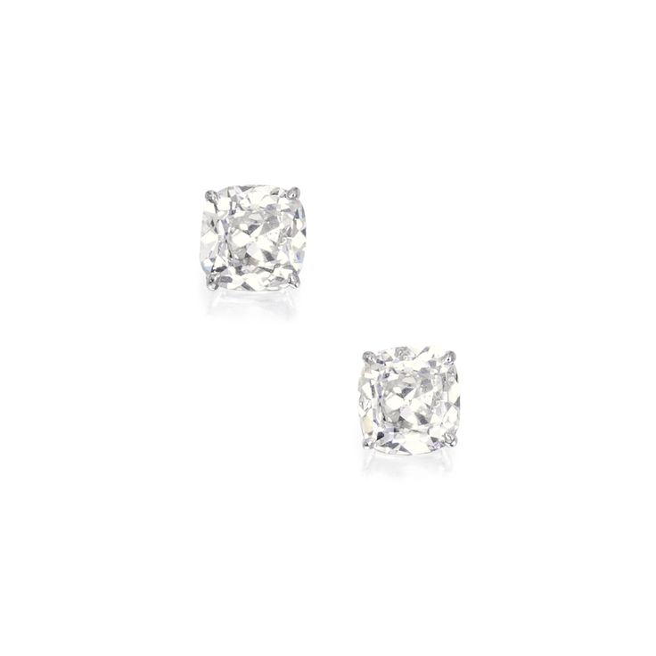 Pair of Platinum and Diamond Earstuds | Lot | Sotheby's
