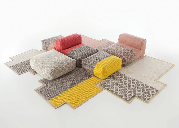 lana mangas rugs and seating by patricia urquiola for gan #sofa #furniture @gibmirraum