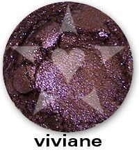 """Viviane is an intense smokey bronzed violet with bright purple sparkles. From Aromaleigh Mineral Cosmetics """"Bete Noire"""" Mineral Eyeshadow Collection... http://www.aromaleigh.com/nebnomieyco.html"""