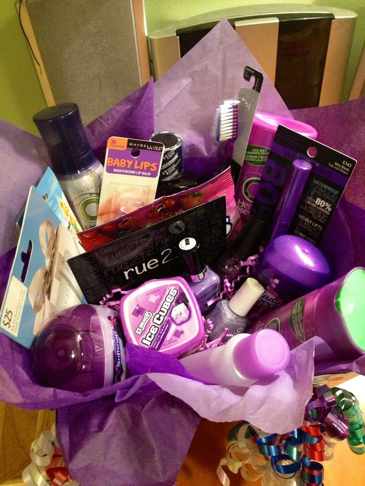 Favorite Color Themed Gift Basket For My Best Friends Birthday That I
