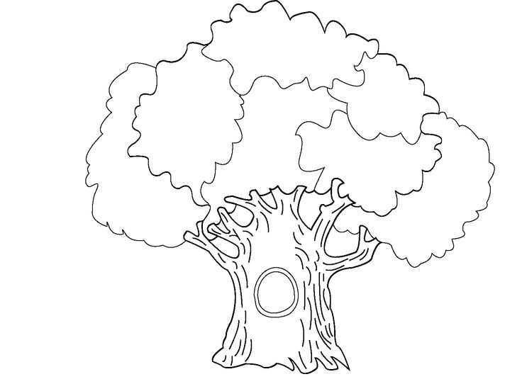 large tree hollow coloring pages