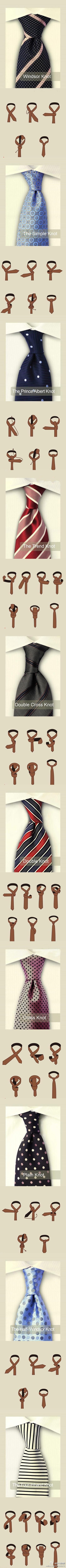 Know your knots for tying your ties.