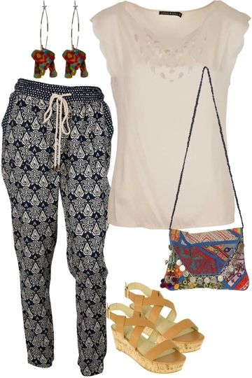 Love this comfortable looking outfit.