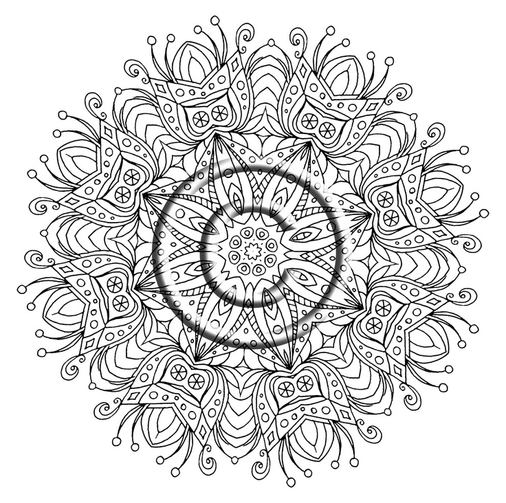 zentangle colouring