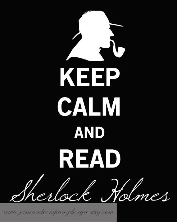 Keep Calm and read Sherlock Holmes poster image