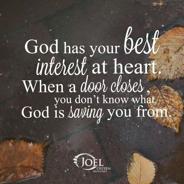 God has your best interest