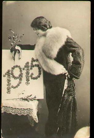 Vintage 1915 New Year Postcard