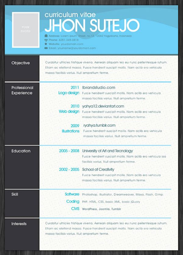 resume template free on pinterest resume templates marketing resume
