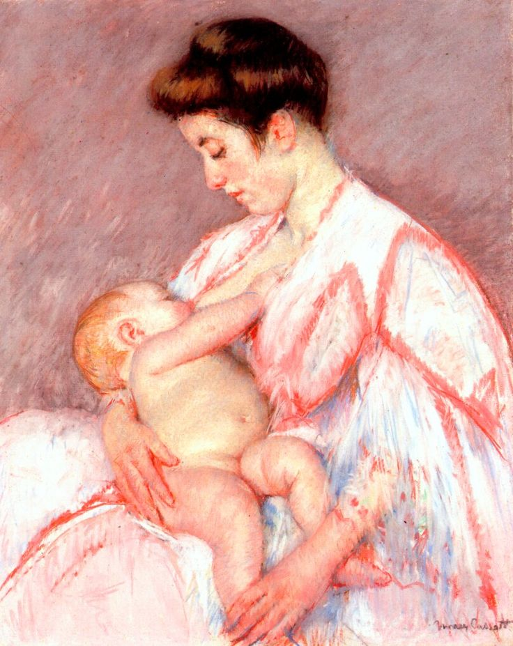 A classic piece of art - Mary Cassatt, 1910. Baby John Being Nursed. #breastfeeding #art