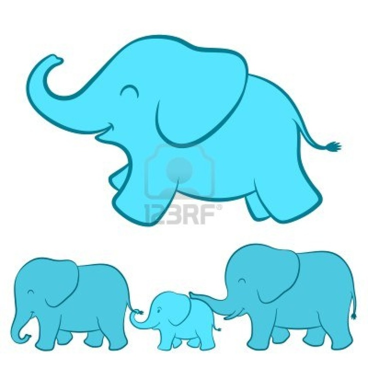cartoon baby elephant family inspiration for cute eye on the baby