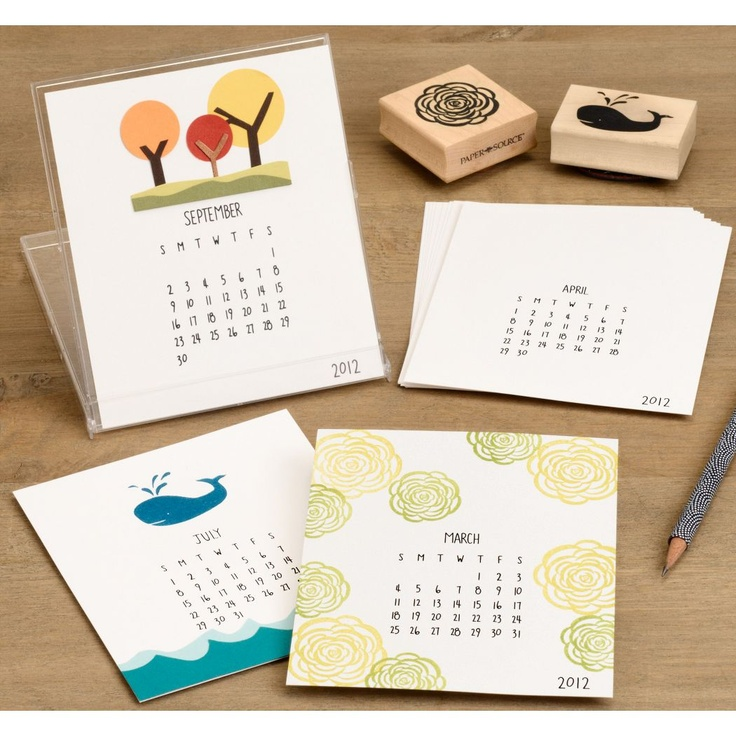 This is a neat idea--calendars in recycled CD cases