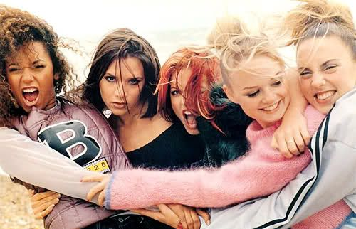 Spice Girls at Brighton Beach, 1995.