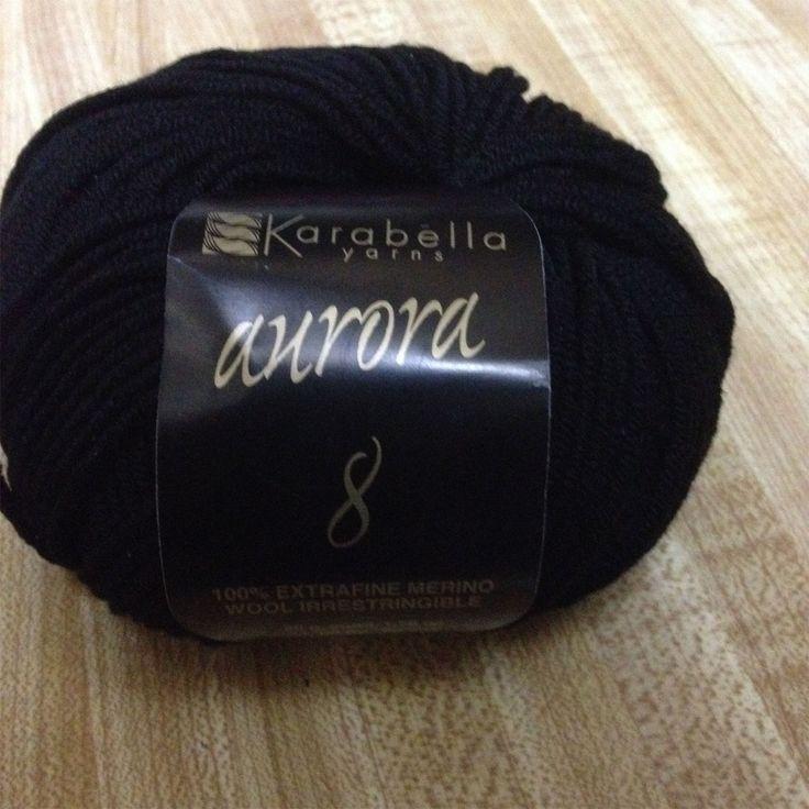 Karabella Yarns (Aurora 8) Black #1148 at School Products Yarn - $9.95