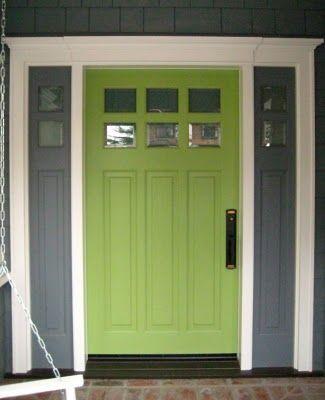 Green paint color for front door