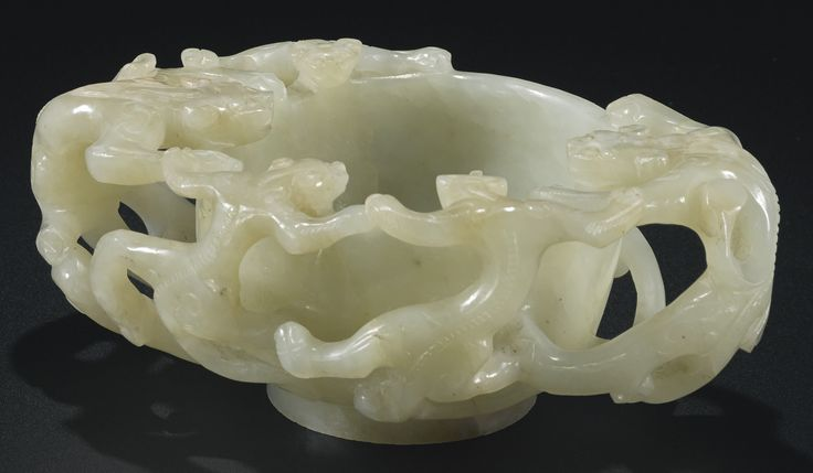 A PALE CELADON JADE BRUSH WASHER<br>17TH CENTURY | Lot | Sotheby's