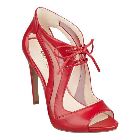 Nine West Momentous Pip Toe Pumps in Red