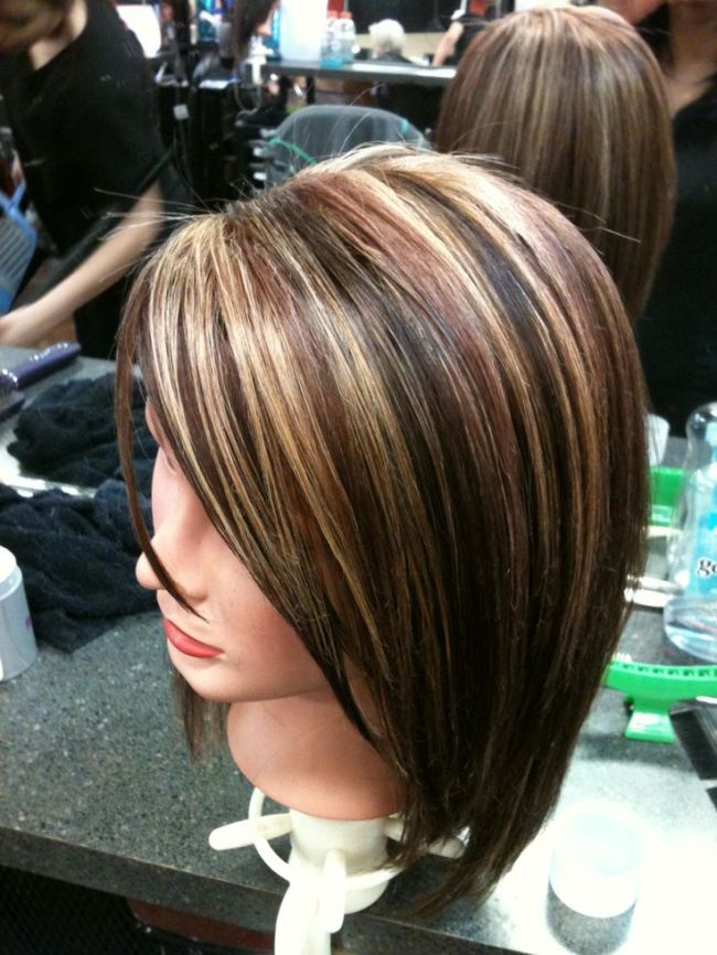 Dark Hair Color With Highlights And Lowlights