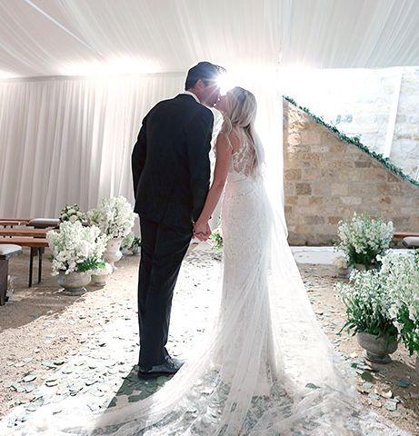 Lauren Conrad's dreamy Badgley Mischka wedding gown.