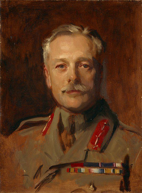 Douglas Haig, 1st Earl Haig, 1861 - 1928. Soldier (study for portrait in General Officers of World War I, 1914 - 1918, in the National Portrait Gallery, London), John Singer Sargent, 1922