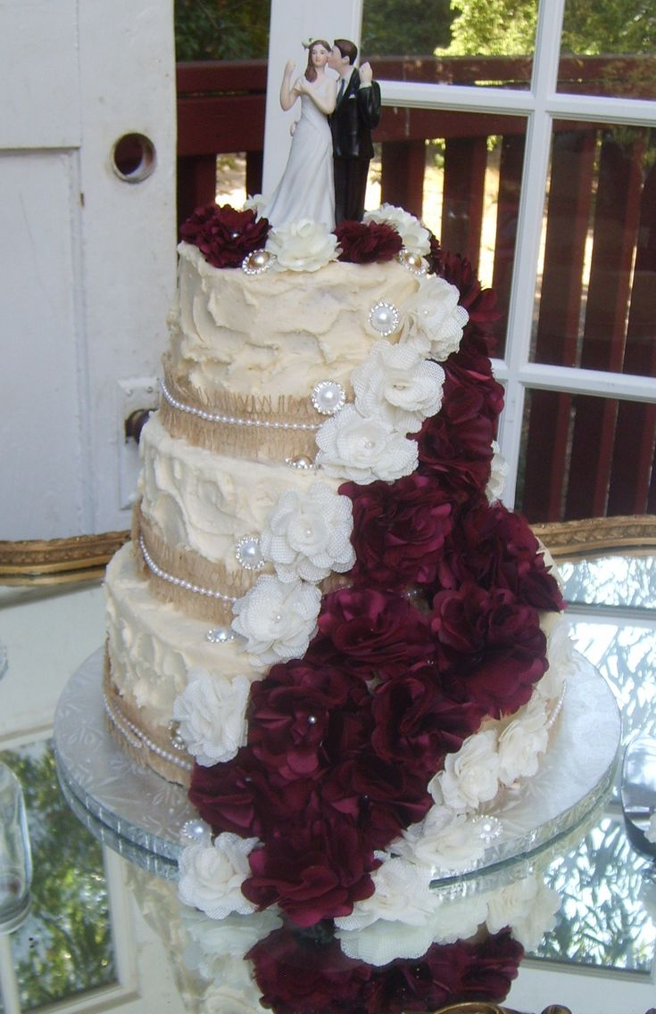 Southern Blue Celebrations Burlap Amp Lace Cake Ideas And