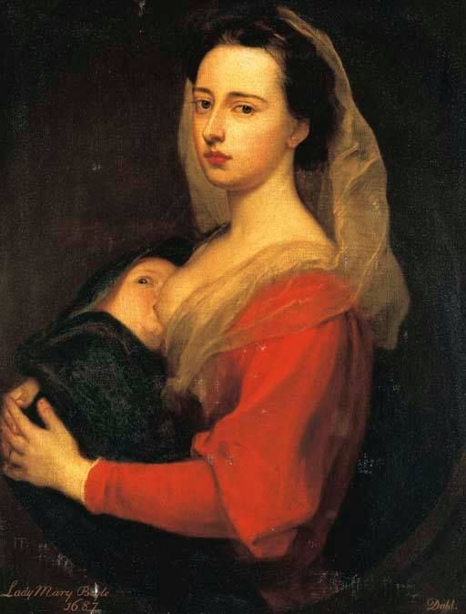Portrait de Lady Mary Boyle et son fils Charles Sir Godfrey Kneller, 1700 Huile sur toile, environ 82 x 65 cm Collection Privée
