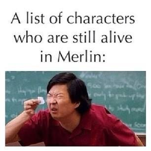 Let's see... there's Merlin.  And Gaius.  And good ole Leon who can't ever die.  Yep, not a long list. Oh, and Gwen.