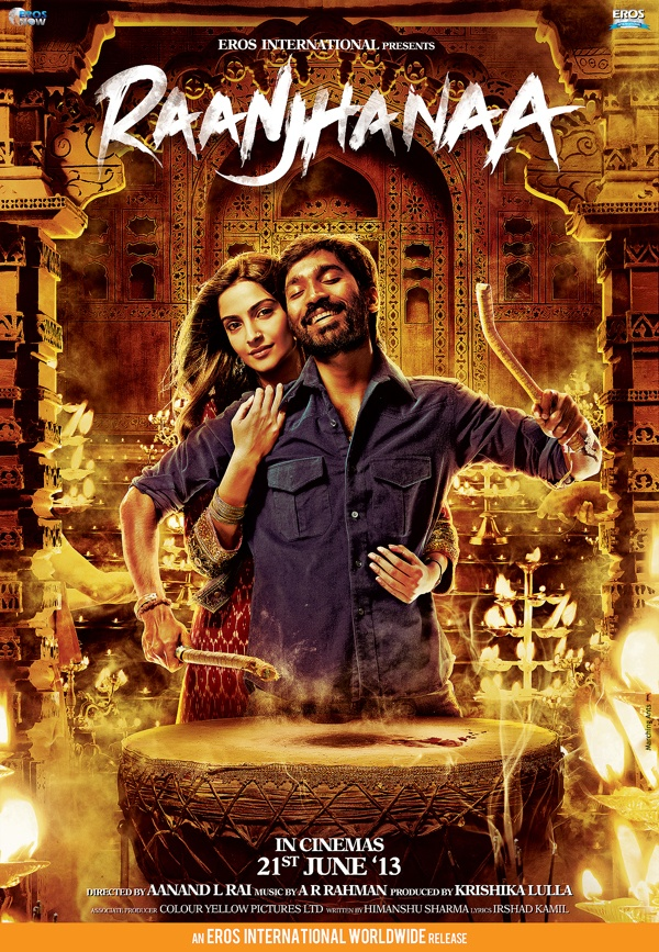 RANJHANAA 2nd poster done in collaboration with Sachin Dalvi
