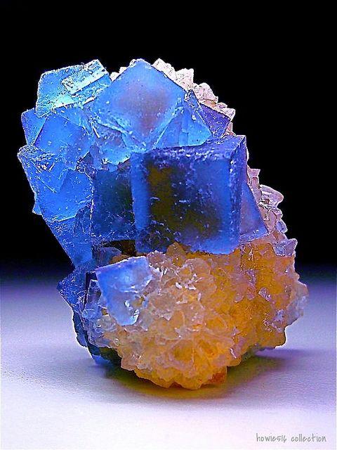 Fluorite crystals on a Quartz matrix, Bingham New Mexico